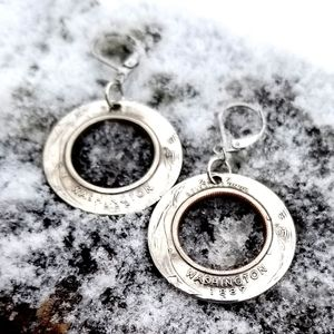 State Quarter Inside Out Drop Earrings
